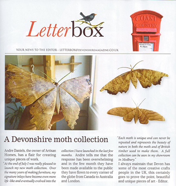 Devon Moths at Artisan Homes
